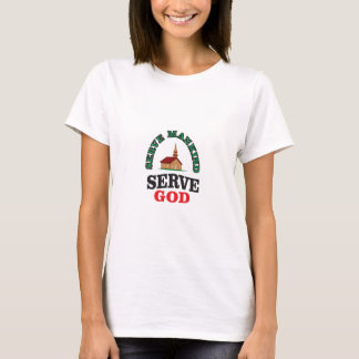dios rojo verde del servicio camiseta