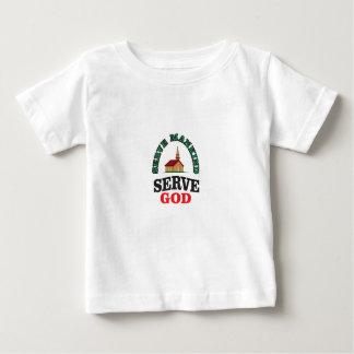 dios rojo verde del servicio camiseta de bebé