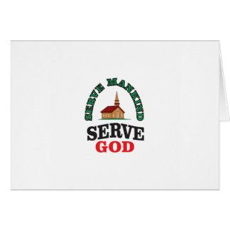 dios rojo verde del servicio tarjeta