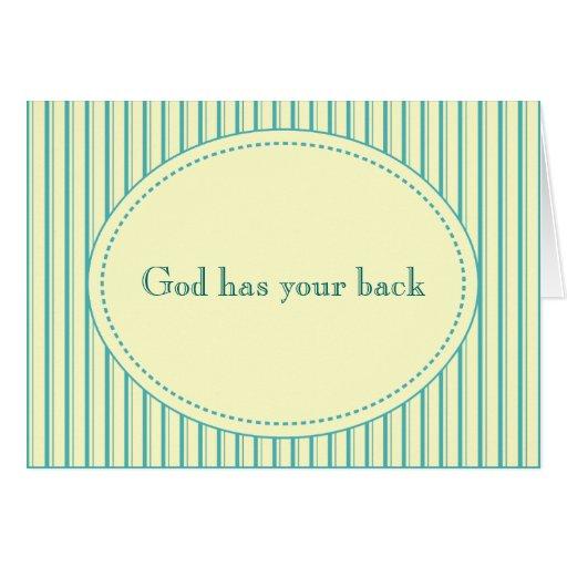 Dios tiene su tarjeta trasera