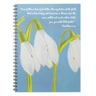 Dios viste la vegetación del cuaderno de la