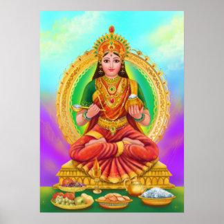 Diosa de Annapoorna del poster Póster
