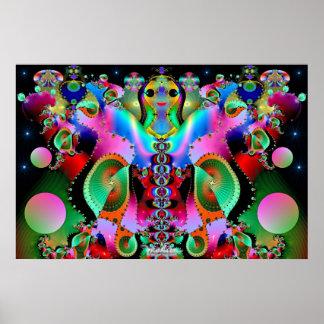 Diosa de colores póster