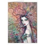 Diosa de la tarjeta de las flores por Molly Harris