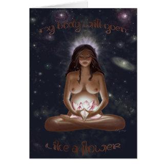 Diosa de la tarjeta del nacimiento