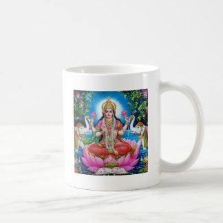 Diosa de Lakshmi del amor, de la prosperidad, y de Taza De Café
