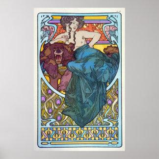 Diosa del oso póster
