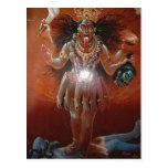 Diosa hindú Kali de la descripción. Foto de un ~17 Postal