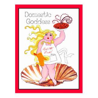 """¡""""Diosa nacional"""" - bese al cocinero! Postal"""