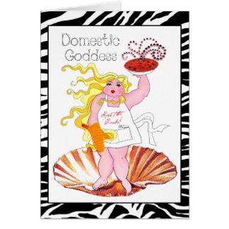 """¡""""Diosa nacional"""" - bese al cocinero! Tarjeta"""