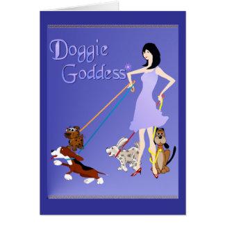 Diosa PosterP del perrito Tarjetón
