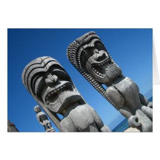 Dioses hawaianos de Tiki Tarjetón