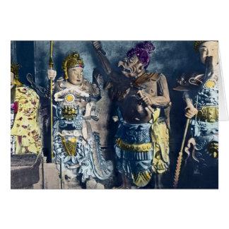 Dioses japoneses del cielo del vintage tarjeta de felicitación