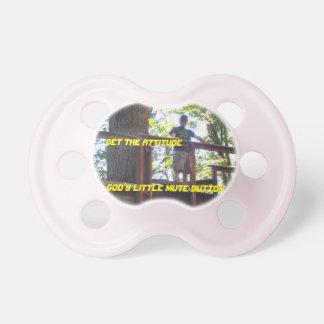Dioses poco pacificador de los chicas del botón en chupetes de bebe