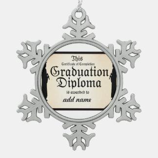 Diploma alto derecho graduado adorno