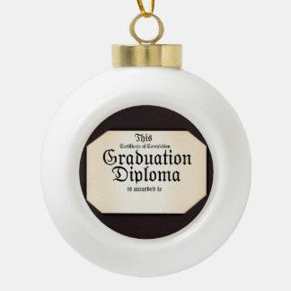 ¡Diploma de la graduación - añada el nombre del Adornos