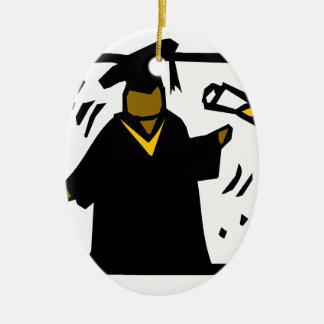Diploma de recepción graduado (1) adorno ovalado de cerámica