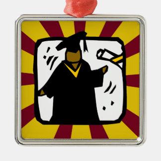Diploma de recepción graduado - oro y rojo