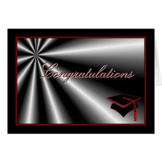 Diploma del casquillo de la graduación de la tarjeta de felicitación