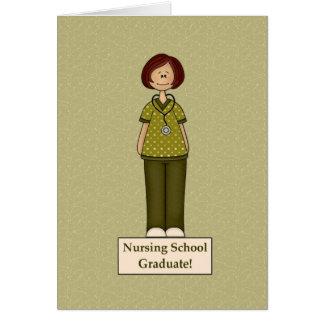 Diplomado de escuela de enfermería tarjeta de felicitación