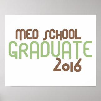 Diplomado de escuela enrrollado del MED 2016 Póster