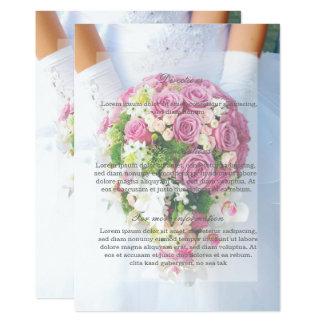 Dirección blanca del boda del ramo de la flor del invitación 12,7 x 17,8 cm