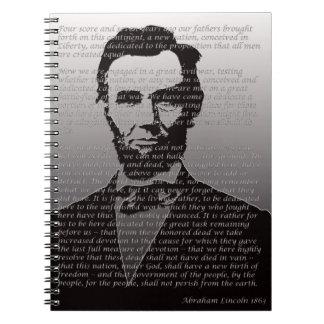 Dirección de Abe Lincoln Gettysburg Cuaderno