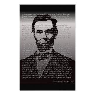 Dirección de Abe Lincoln Gettysburg Papelería