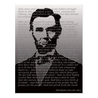 Dirección de Abe Lincoln Gettysburg Postal