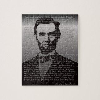 Dirección de Abe Lincoln Gettysburg Puzzle