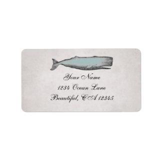 Dirección de la playa de la ballena del Victorian Etiquetas De Dirección