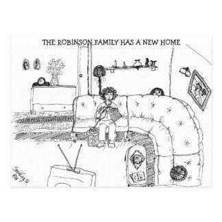 Dirección de la sala de estar de la familia del postal