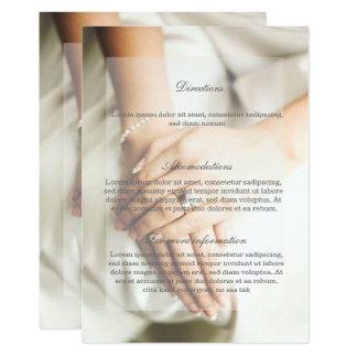 Dirección del boda del anillo de diamante de la invitación 12,7 x 17,8 cm