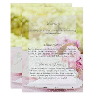 Dirección del boda del loveletter de la flor del invitación 12,7 x 17,8 cm