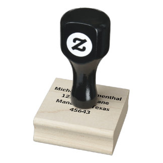 Dirección personalizada sello de caucho