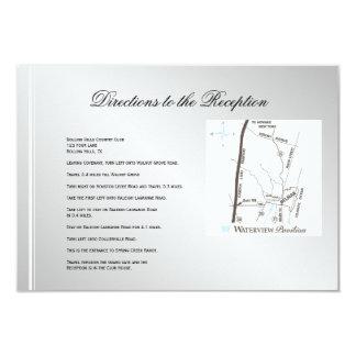 Direcciones blancas de plata del boda del invierno invitación 8,9 x 12,7 cm