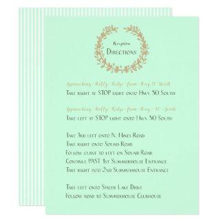Direcciones de la recepción invitación 10,8 x 13,9 cm