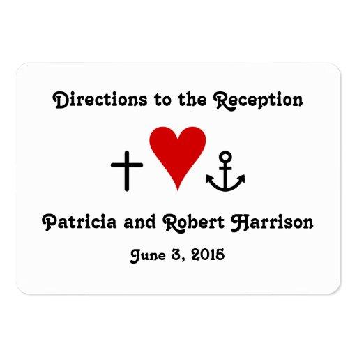 Direcciones de la recepción nupcial del amor el |  plantilla de tarjeta de negocio