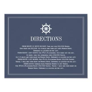 Direcciones del boda de la dirección del barco de invitación 10,8 x 13,9 cm