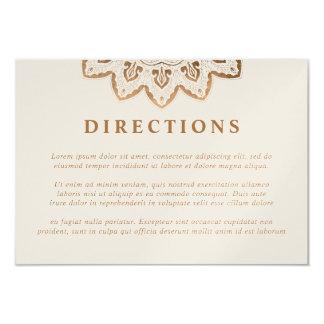 Direcciones del boda de la mandala del reflejo del invitación 8,9 x 12,7 cm