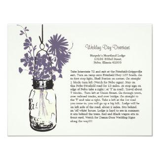 Direcciones del boda de los Wildflowers y del Invitación 10,8 X 13,9 Cm