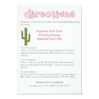 Direcciones/detalles rosados y boda verde del invitación 12,7 x 17,8 cm