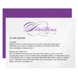 Direcciones elegantes del boda de la escritura - invitación 11,4 x 15,8 cm