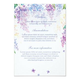 Direcciones florales del boda de la flor de la invitación 12,7 x 17,8 cm