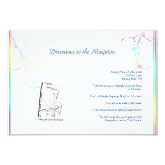 Direcciones gay florales del boda del arco iris invitación 8,9 x 12,7 cm