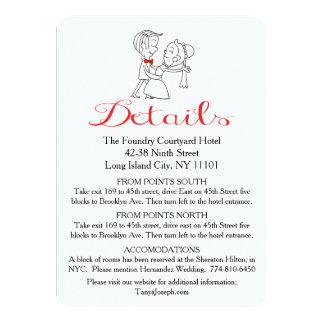 Direcciones novia y boda blanco y negro del novio invitación 11,4 x 15,8 cm