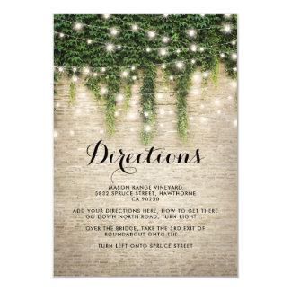 Direcciones rústicas del boda de la iglesia de la invitación 8,9 x 12,7 cm