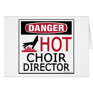 Director caliente del coro felicitaciones