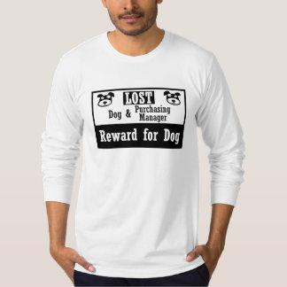 Director de compras perdido del perro camiseta