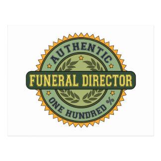 Director de funeraria auténtico tarjetas postales